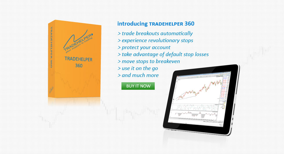 introducing tradehelper 360, trade breakouts automatically, experience revolutionary stops, protect account, default stop losses, move stops to breakeven